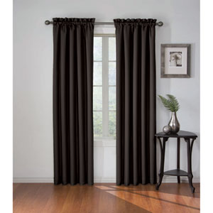 Corinne 84 x 42-Inch Black Blackout Window Curtain Panel