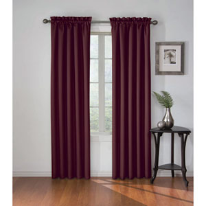 Corinne 95 x 42-Inch Plum Blackout Window Curtain Panel