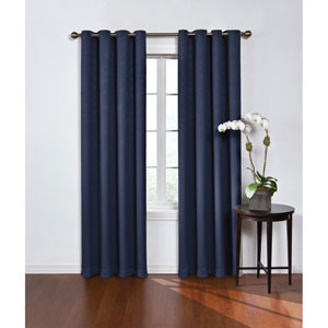 Round and Round 95 x 52-Inch Navy Blackout Window Curtain Panel