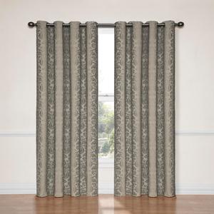 Nadya Black 52-Inch x 84-Inch Blackout Window Curtain Panel