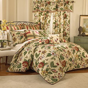 Laurel Springs Parchment Queen Four Piece Comforter Set