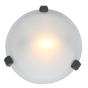 Nimbus Rust One-Light Flush Mount with Frosted Glass
