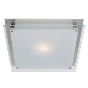 Vision Brushed Steel 12-Inch Wide LED Flush Mount