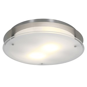 Vision Round Brushed Steel 15.5-Inch Wide LED Flush Mount
