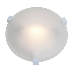 Cirrus White One-Light Flush Mount with Frosted Glass