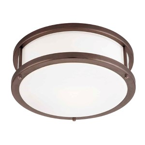 Conga Bronze 12-Inch Wide LED Flush Mount