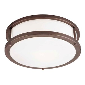Conga Bronze 16-Inch Wide LED Flush Mount