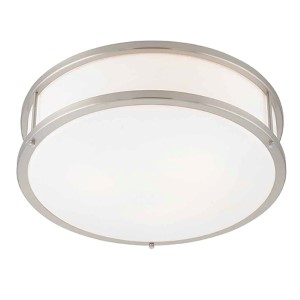 Conga Brushed Steel 16-Inch Wide LED Flush Mount