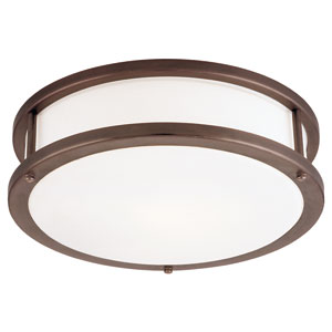 Conga Bronze 19-Inch Wide LED Flush Mount