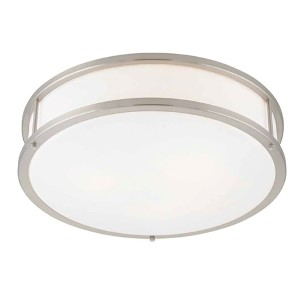 Conga Brushed Steel 19-Inch Wide LED Flush Mount