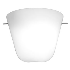 Aire Chrome One-Light 8-Inch Wall Sconce with Opal Glass