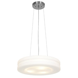 Altum Brushed Steel 19.5-Inch Wide LED Drum Pendant