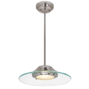 Phoebe Brushed Steel One-Light 13.5-Inch Wide LED Dome Pendant