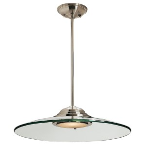 Phoebe Brushed Steel One-Light 19-Inch Wide LED Dome Pendant