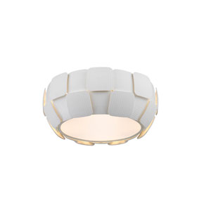 Layers White Four-Light 14-Inch Flush Mount
