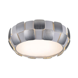 Layers Chrome Four-Light 18-Inch Flush Mount with White Shade