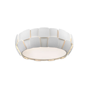 Layers White Four-Light 18-Inch Flush Mount