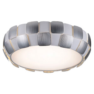 Layers Chrome Six-Light 22-Inch Flush Mount with White Shade