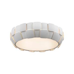 Layers White Six-Light 22-Inch Flush Mount