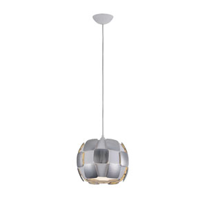 Layers Chrome Four-Light 11-Inch Pendant with White Shade