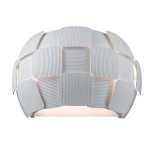 Layers White Two-Light 13-Inch Wall Sconce