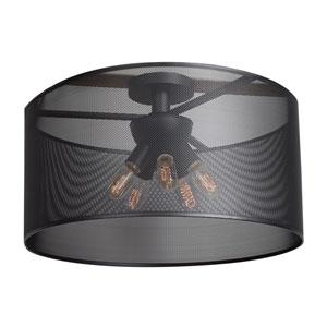 Epic Black 24-Inch LED Round Semi-Flush Mount