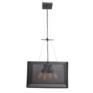 Epic Black 16-Inch LED Square Pendant