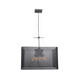 Epic Black 20-Inch Five-Light Square Pendant