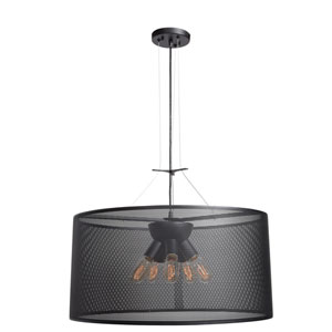 Epic Black 28-Inch LED Round Pendant