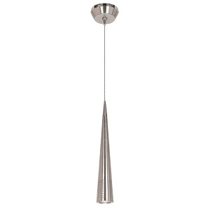 Apollo Brushed Steel One-Light Mini-Pendant with Sphere Canopy