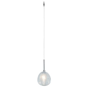 Raindrop Brushed Steel One-Light Unijack Mini-Pendant