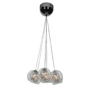 Aeria Chrome Seven-Light 12-Inch Wide Island Pendant