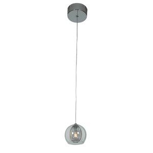 Aeria Chrome One-Light 4-Inch Wide Mini-Pendant