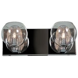 Aeria Chrome Two-Light LED Vanity