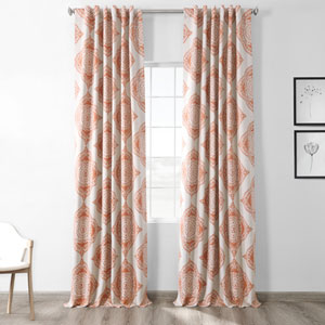 Henna Orange 50 x 120-Inch Blackout Curtain