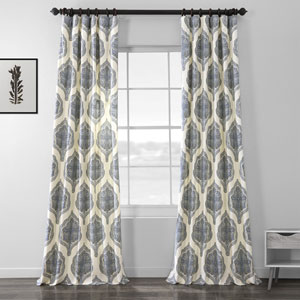 Arabesque Blue 96 x 50-Inch Curtain Single Panel