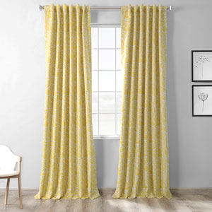 Abstract Yellow 108 x 50-Inch Blackout Curtain