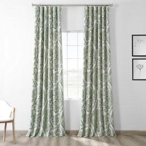 Tea Time Green 84 x 50-Inch Blackout Curtain Single Panel