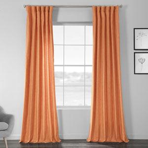 Faux Shantung Silk Monarch Orange 84 x 50-Inch Curtain Single Panel