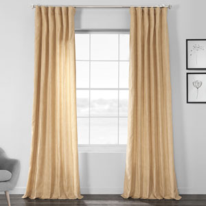 Faux Shantung Silk Heath Tan 84 x 50-Inch Curtain Single Panel