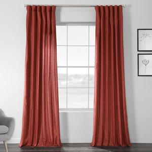 Faux Shantung Silk Amiral Red 84 x 50-Inch Curtain Single Panel