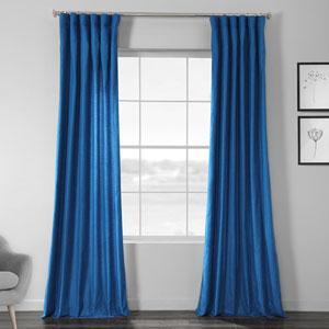 Faux Shantung Silk Holly Blue 96 x 50-Inch Curtain Single Panel