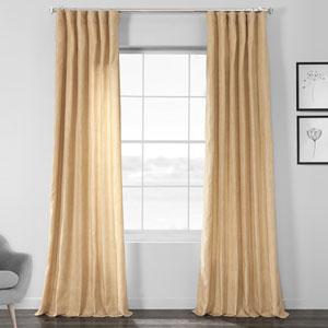 Faux Shantung Silk Heath Tan 96 x 50-Inch Curtain Single Panel