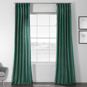 Faux Shantung Silk Meadow Green 96 x 50-Inch Curtain Single Panel