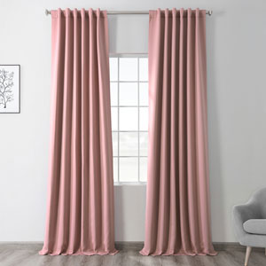 Blackout Pink 50 x 108 In. Curtain, Set of 2