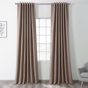 Blackout Brown 50 x 120 In. Curtain, Set of 2