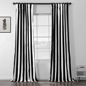 Cabana Black Printed Cotton Curtain 50 x 84