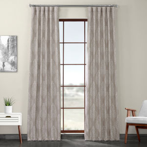 Brown Printed 108 x 50-Inch Polyester Blackout Curtain Single Panel