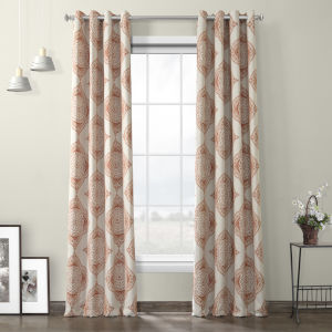 Henna Grommet Blackout Curtain Single Panel