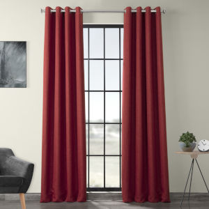 Red 96 x 50-Inch Polyester Blackout Curtain Single Panel